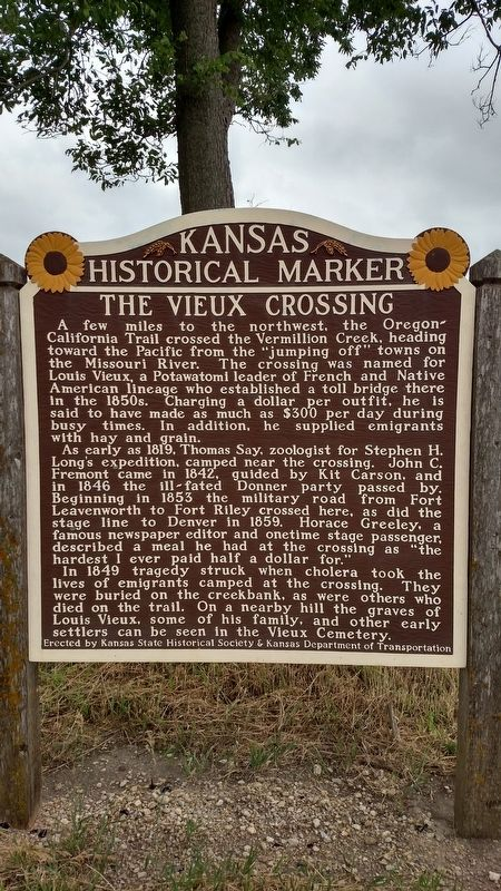 The Vieux Crossing Marker image. Click for full size.