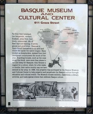 Basque Museum and Cultural Center Marker image. Click for full size.