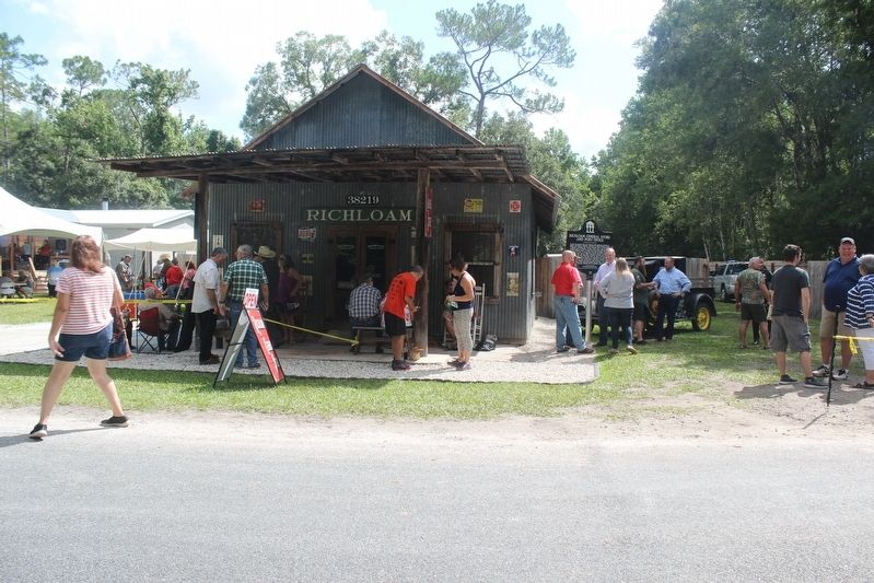 Richloam General Store and Post Office Marker dedication ceremony image. Click for full size.