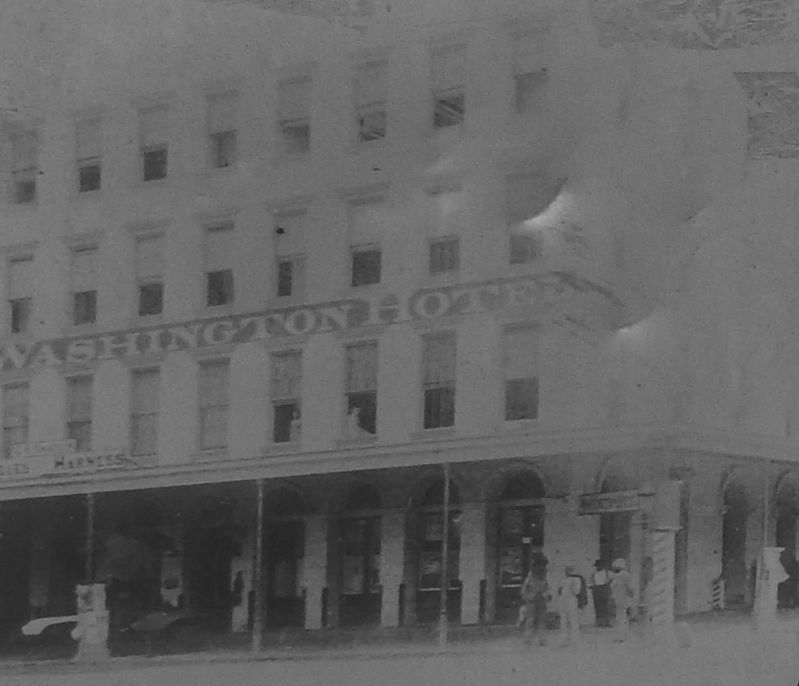 Marker detail: Washington Hotel Photo (<i>side 2, close-up</i>) image. Click for full size.
