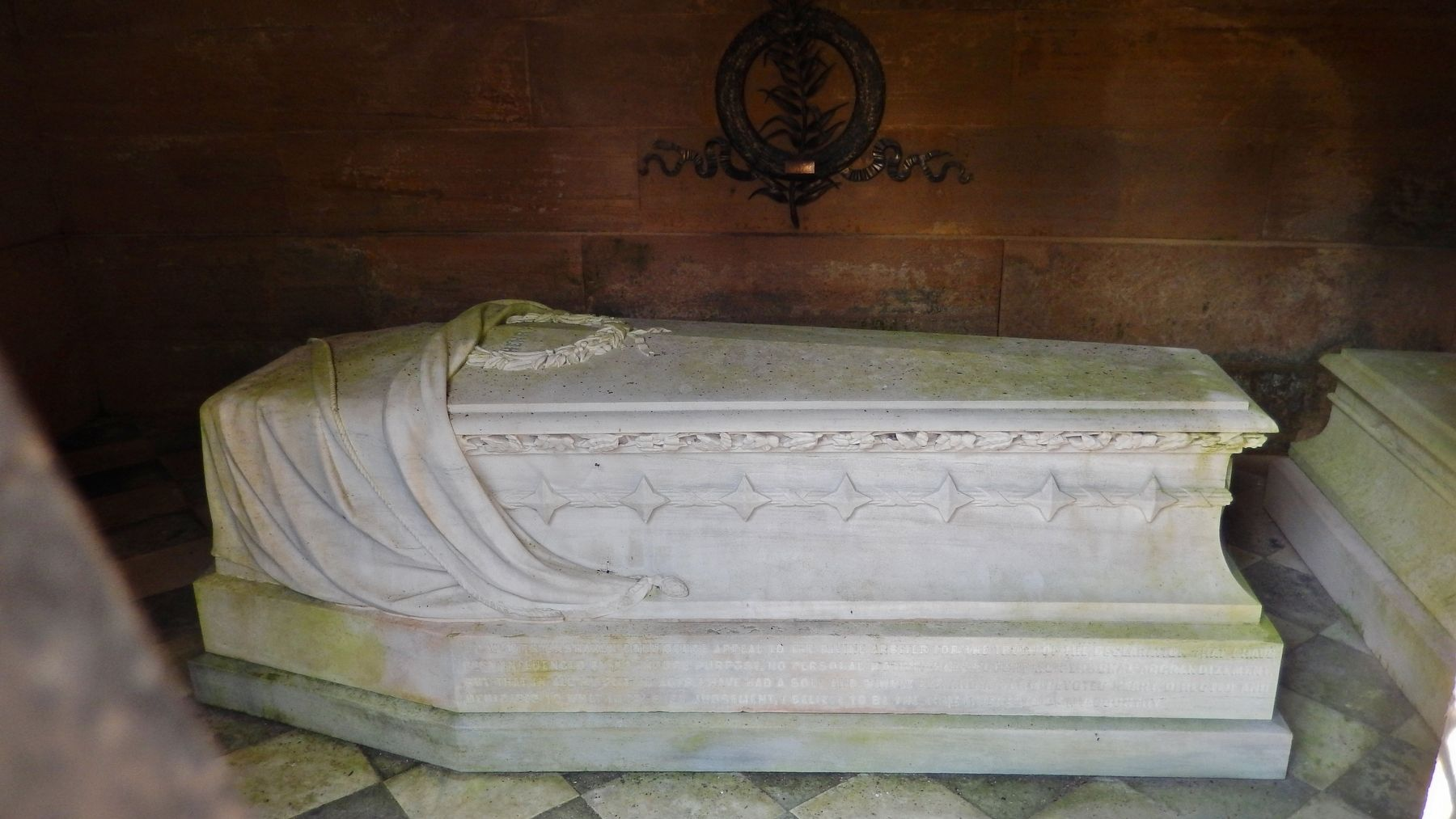 Henry Clay Sarcophagus (<i>view through doorway into mausoleum</i>) image. Click for full size.