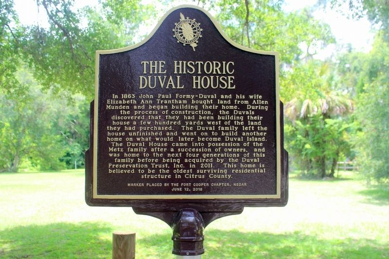 The Historic Duval House Marker image. Click for full size.
