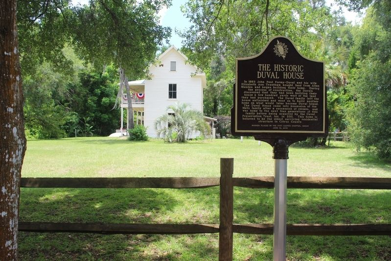 The Historic Duval House Marker with house in background image. Click for full size.