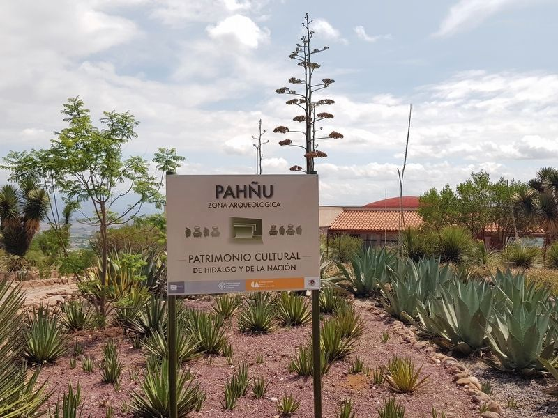 The entry sign at the Pahñu Archaeological Site image. Click for full size.