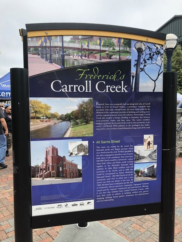 Frederick's Carroll Creek Marker image. Click for full size.