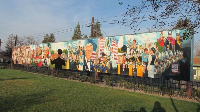 Porterville Band Mural image. Click for full size.