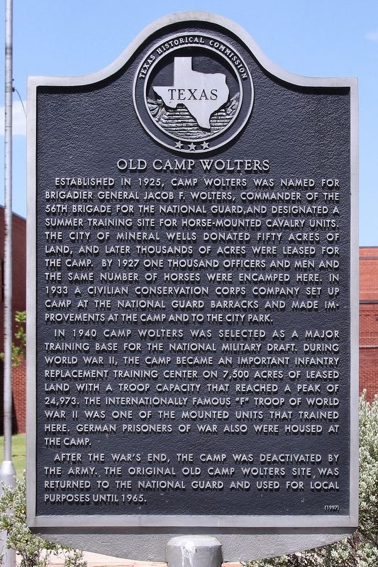 Old Camp Wolters Marker image. Click for full size.