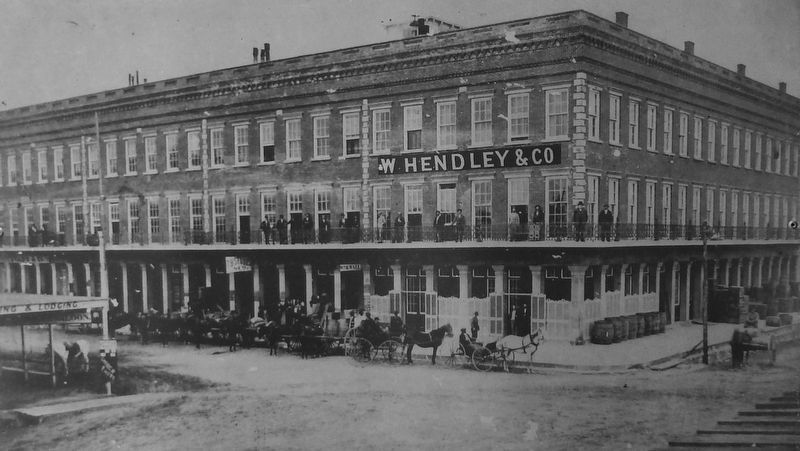 Marker (<i>side two</i>) detail: Historic Photo of Hendley Row image. Click for full size.