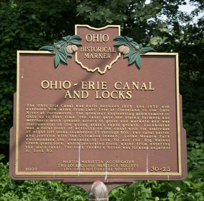 Ohio-Erie Canal and Locks Side of Marker image. Click for full size.