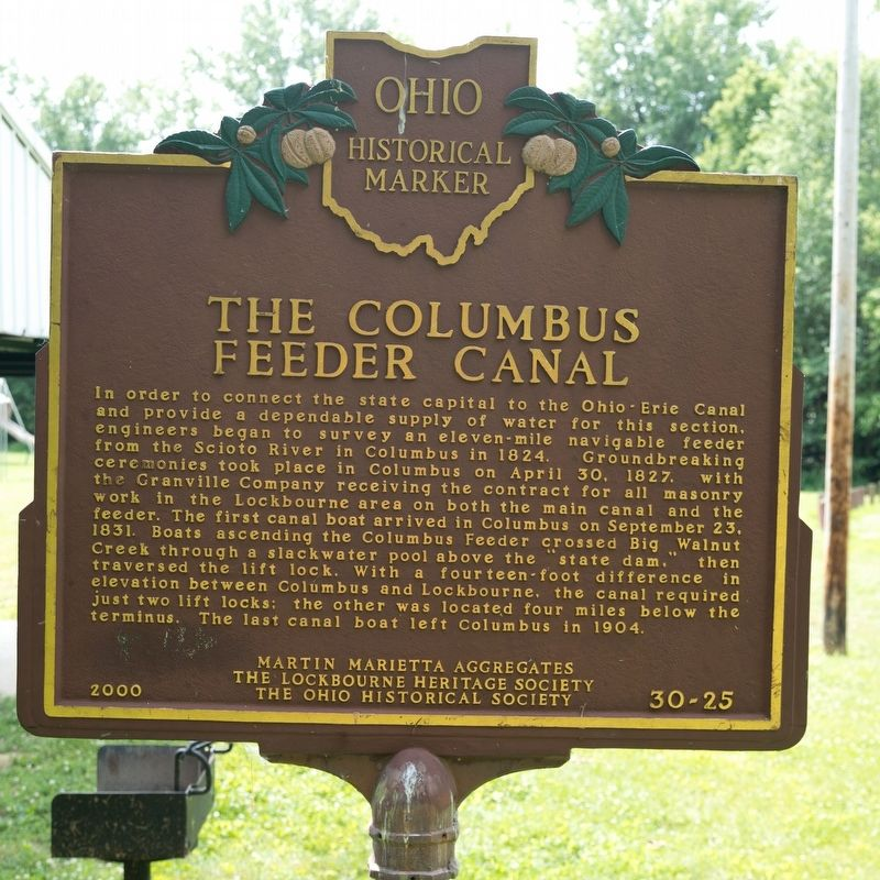 The Columbus Feeder Canal Side of Marker image. Click for full size.