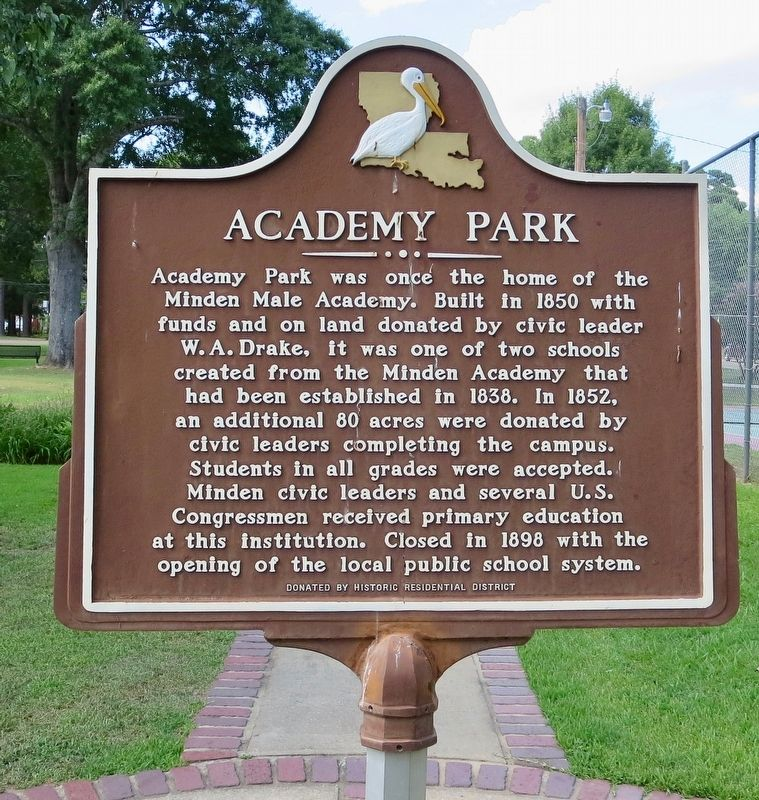 Academy Park Marker image. Click for full size.