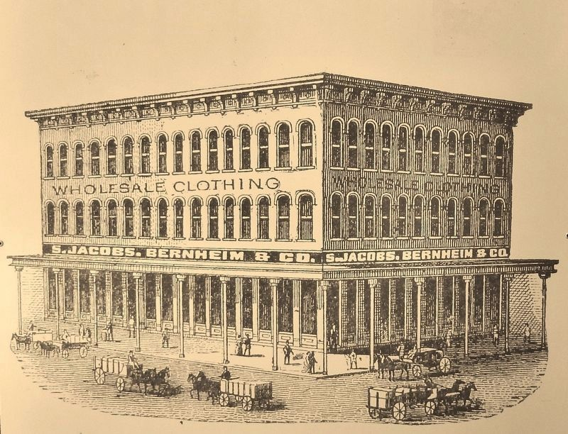 Marker (<i>side two</i>) detail: Historic Photo of Thomas Jefferson League building image. Click for full size.