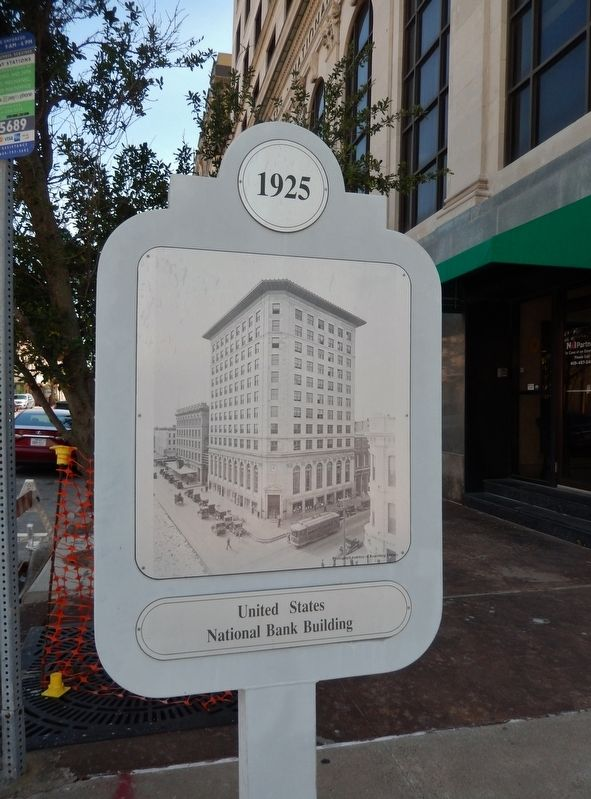 United States National Bank Building Marker (<i>side two</i>) image. Click for full size.