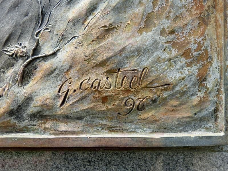 G Casteel 98<br>Gary Casteel&#39;s Signature on the brass panel image. Click for full size.