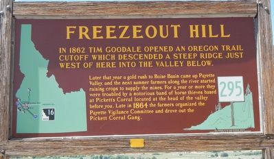 Freezeout Hill Marker image. Click for full size.