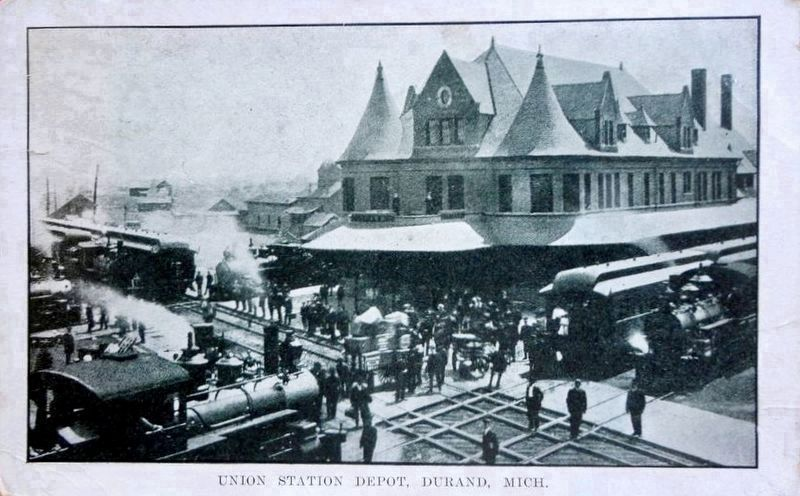 <i>Union Station Depot, Durand, Mich.</i> image. Click for full size.