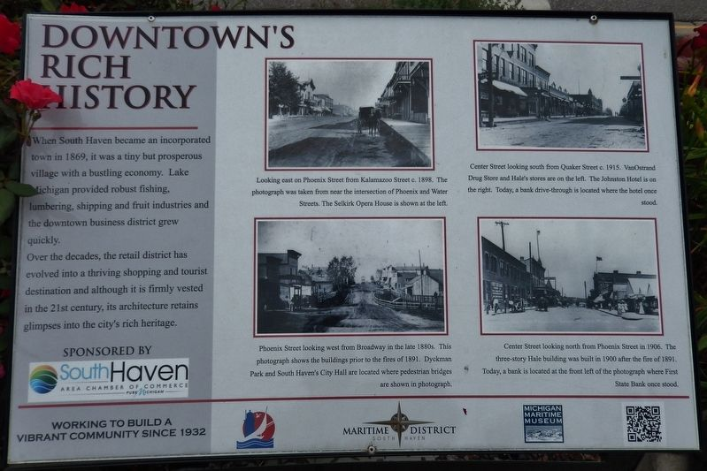 Downtown's Rich History Marker image. Click for full size.