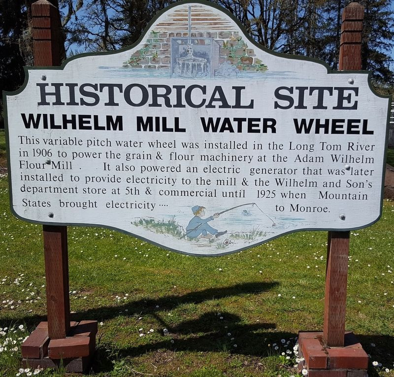 Wilhelm Mill Water Wheel Marker image. Click for full size.