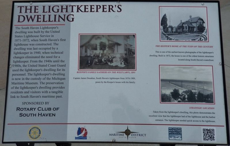 The Lightkeeper's Dwelling Marker image. Click for full size.
