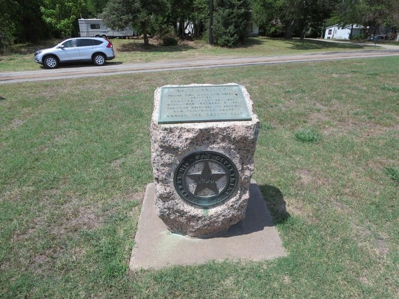 Delta County red granite monument. image. Click for full size.
