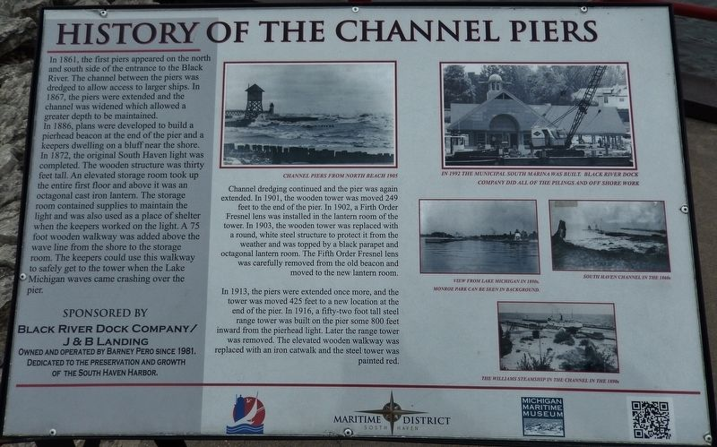 History of the Channel Piers Marker image. Click for full size.