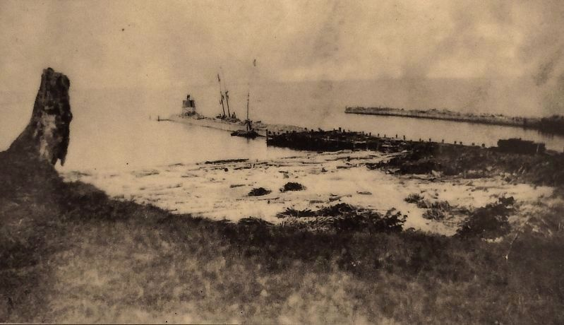 Marker detail: South Haven Channel in the 1860s image. Click for full size.