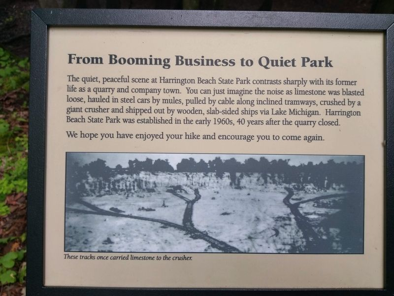 From Booming Business to Quiet Park Marker image. Click for full size.