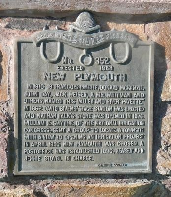 New Plymouth Marker image. Click for full size.