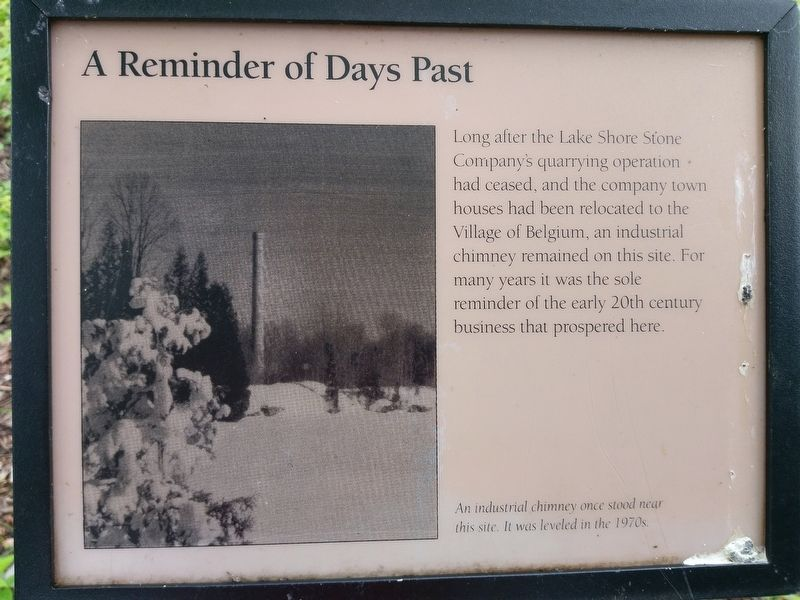 A Reminder of Days Past Marker image. Click for full size.