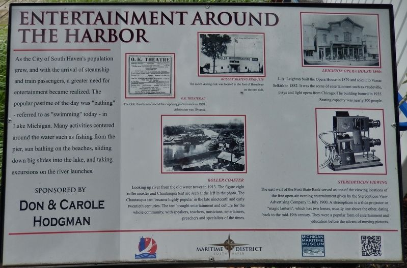 Entertainment Around the Harbor Marker image. Click for full size.