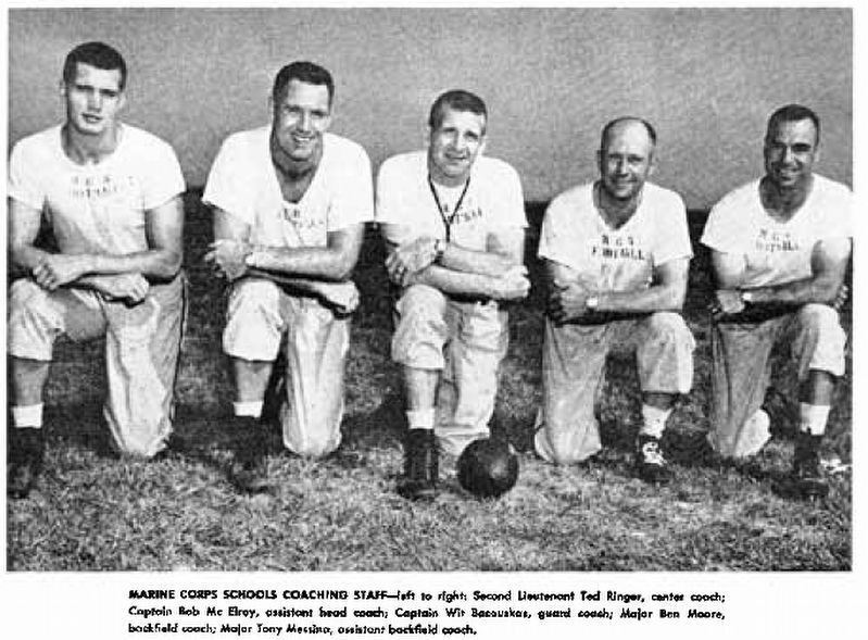 Major Wit J. Bacauskas as guard coach for Quantico Marines Football image. Click for full size.