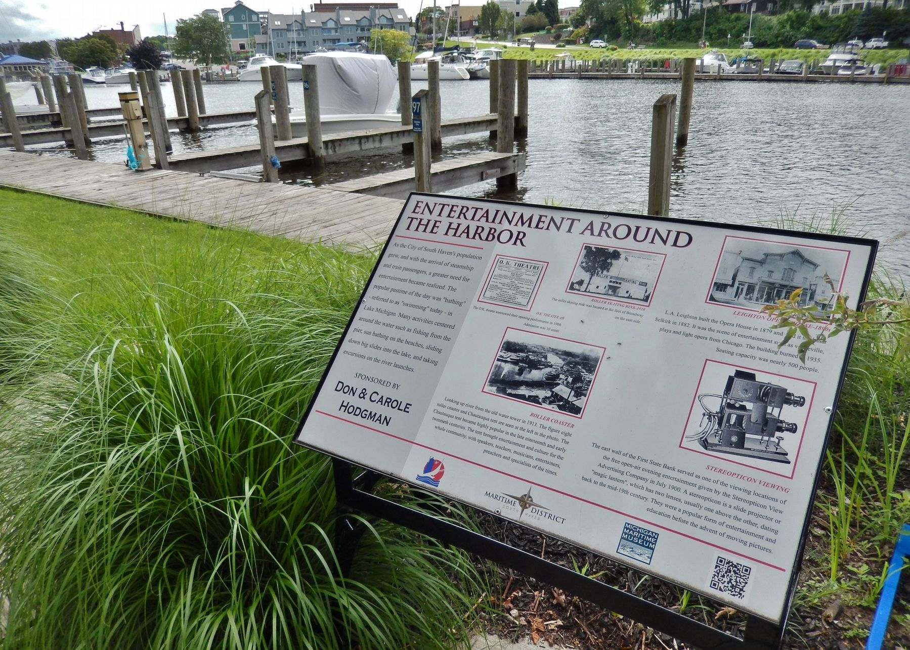 Entertainment Around the Harbor Marker (<i>wide view</i>) image. Click for full size.