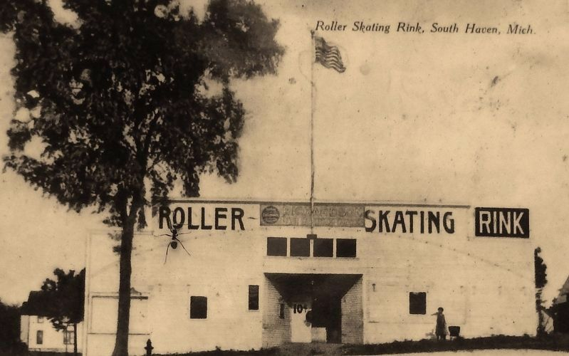 Marker detail: Roller Skating Rink – 1910 image. Click for full size.