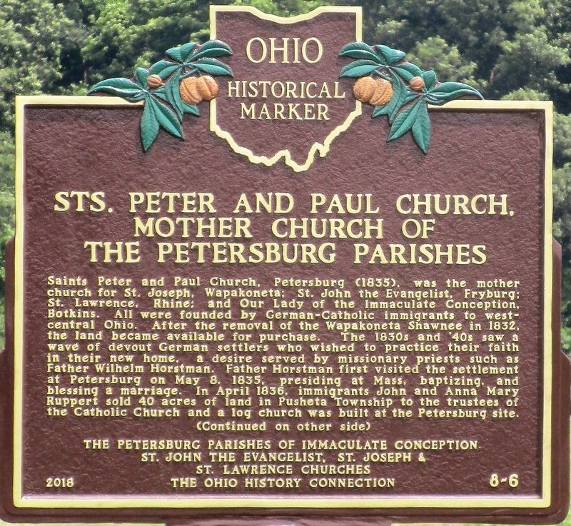 Sts. Peter and Paul Church Marker image. Click for full size.