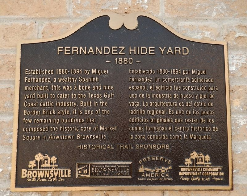 Fernandez Hide Yard Marker image. Click for full size.