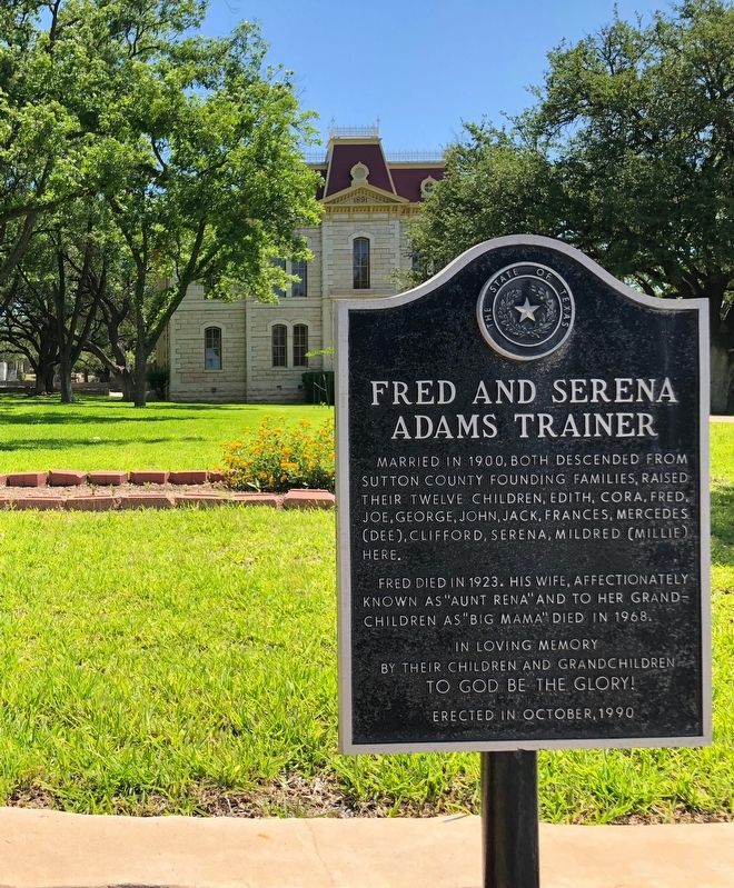 Fred and Serena Adams Trainer Marker image. Click for full size.