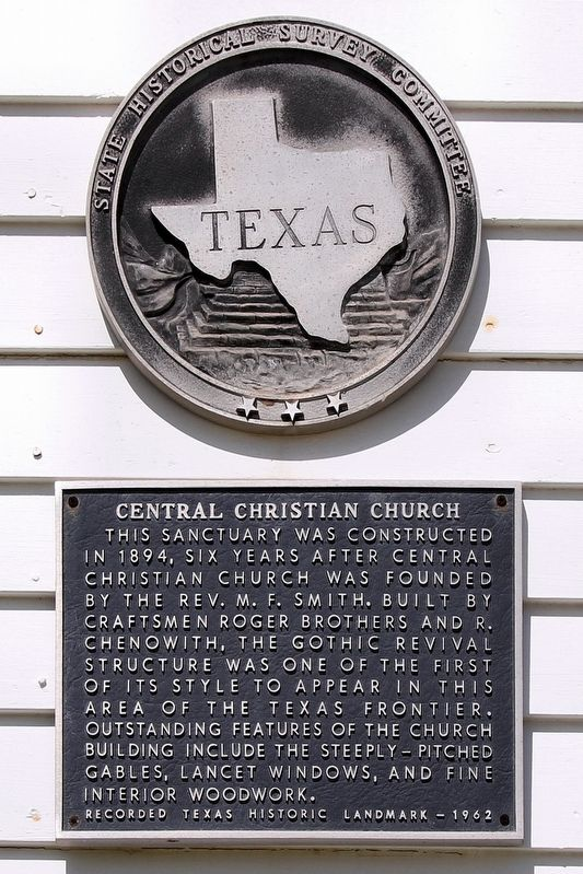Central Christian Church Marker image. Click for full size.
