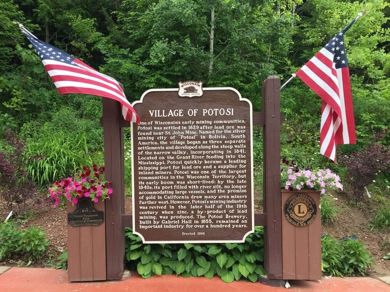 Village of Potosi Marker image. Click for full size.