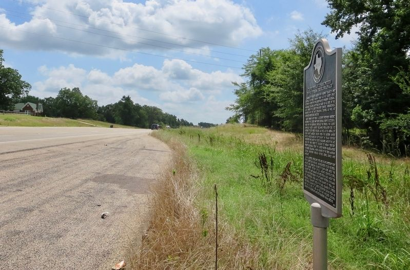 View from marker looking south towards Daingerfield. image. Click for full size.