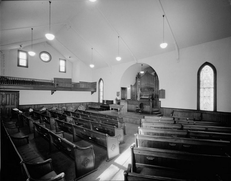 Interior of former First Congregational Church of Ovid image. Click for full size.