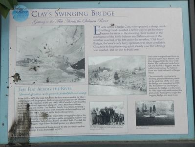 Clay's Swinging Bridge Marker image. Click for full size.