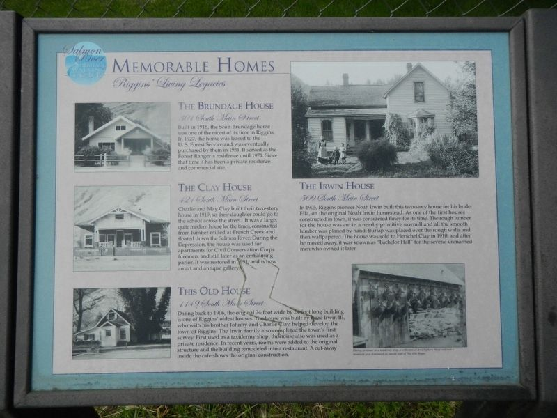 Memorable Homes Marker image. Click for full size.