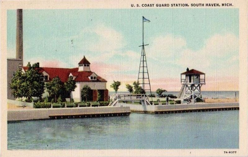 <i>U.S. Coast Guard Station, South Haven, Mich.</i> image. Click for full size.