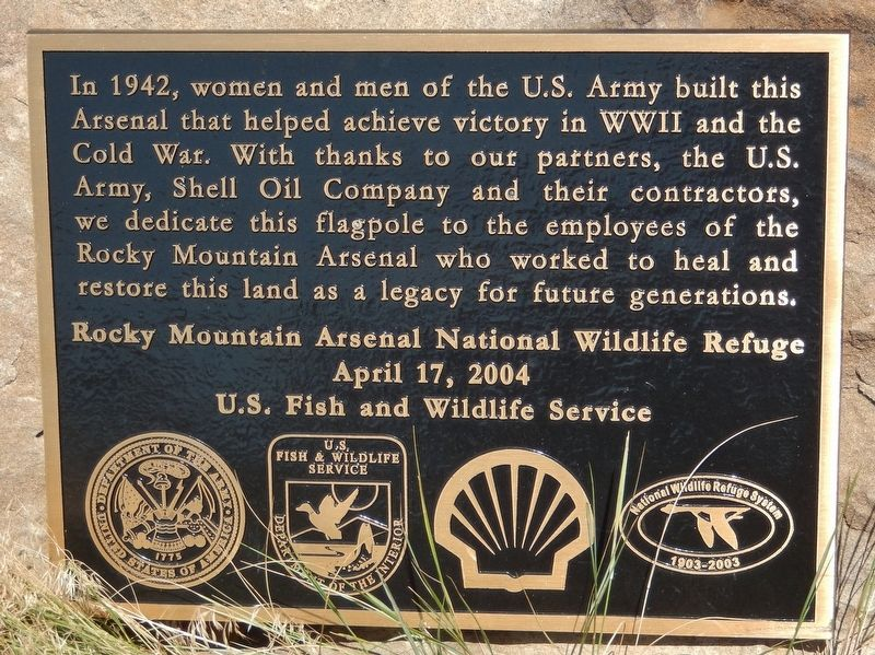 Rocky Mountain Arsenal National Wildlife Refuge Marker image. Click for full size.