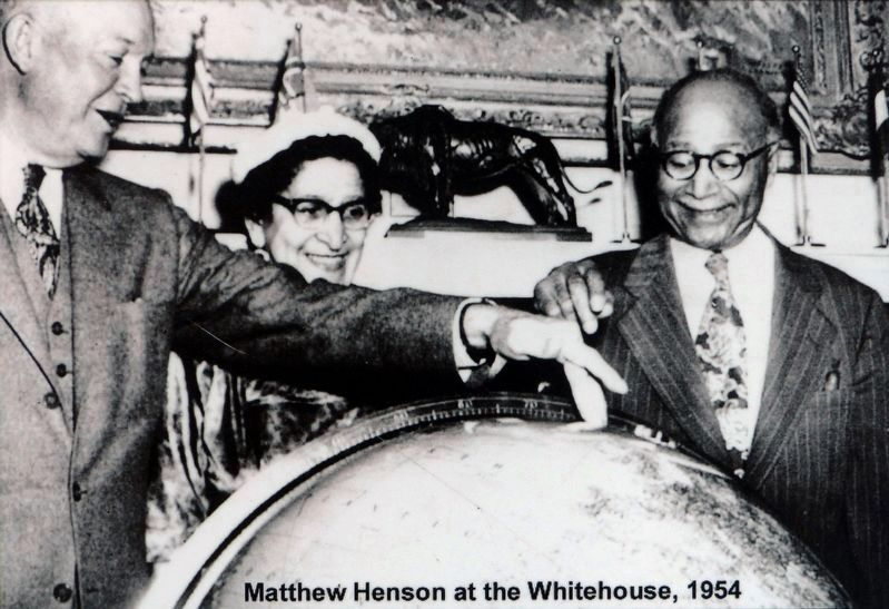 Matthew Henson at the Whitehouse, 1954 image. Click for full size.