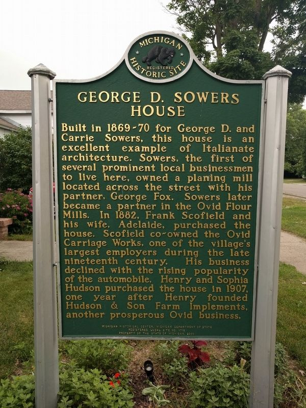 George D. Sowers House Marker image. Click for full size.