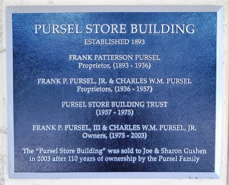 Pursel Store Building Marker image. Click for full size.