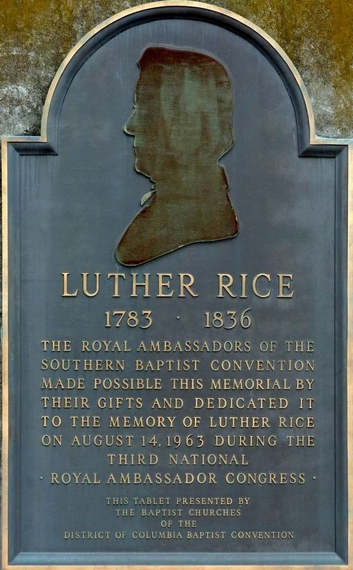 Luther Rice Marker image. Click for full size.