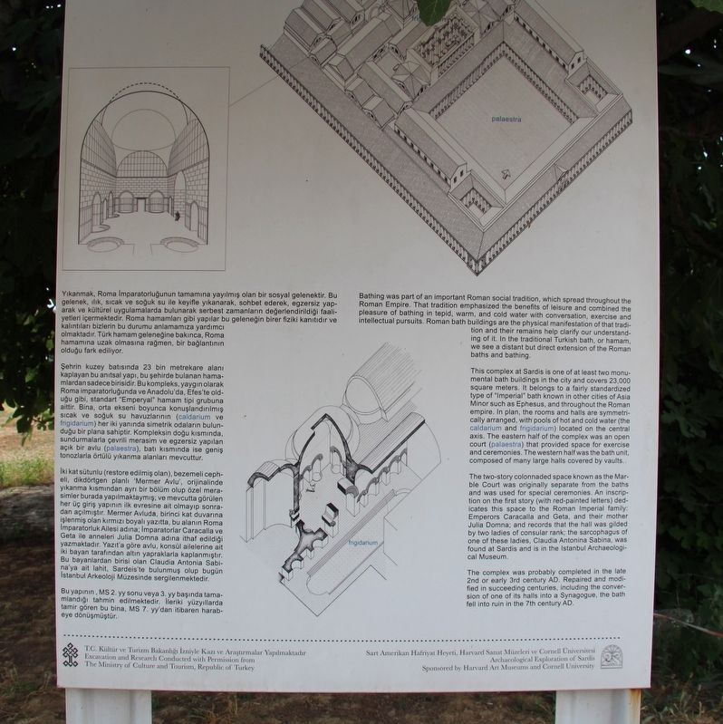 Bath-Gymnasium Complex Marker image. Click for full size.
