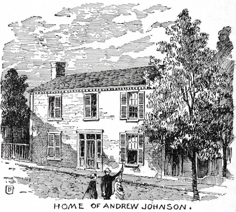 Home of Andrew Johnson image. Click for full size.